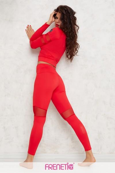 Bluza street wear -yoga-fitnessc-rosu -HORTENZIA-23