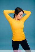 Bluza fitness-basic--galben soare- HIP-15